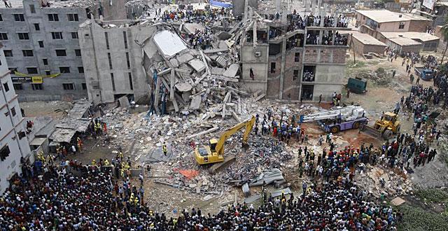 Imagen del edificio derrumbado. | Efe