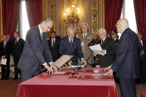Letta jura suu cargo ante Napolitano. | Efe
