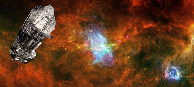 Recreación artística del observatorio Herschel. | ESA