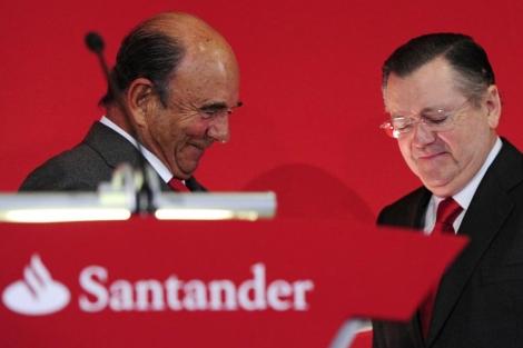 Emilio Botín y Alfredo Sáenz . | Afp