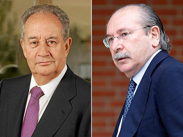 Los empresarios Juan Miguel Villar Mir (OHL) y Luis del Rivero (Sacyr Vallehermoso). | EL MUNDO / Antonio Heredia