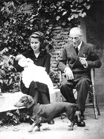Con su hija Cayetana.