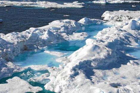 Una zona del ártico canadiense, afectada por el cambio climático.