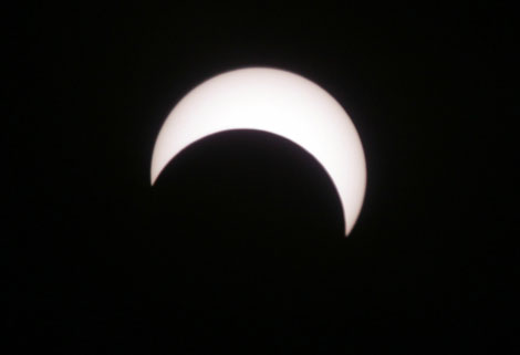 Fase final fe un eclipse solar anular. | Reuters