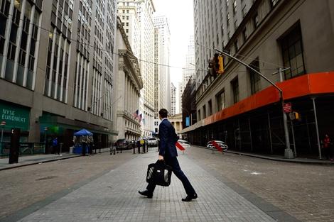 Un ejecutivo ed Wall Street, Nueva York. | Afp