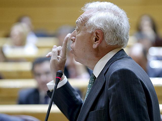 El ministro de Asuntos Exteriores, J.M García- Margallo , durante su intervención en la sesión de control al Gobierno. | J.Martín/Efe