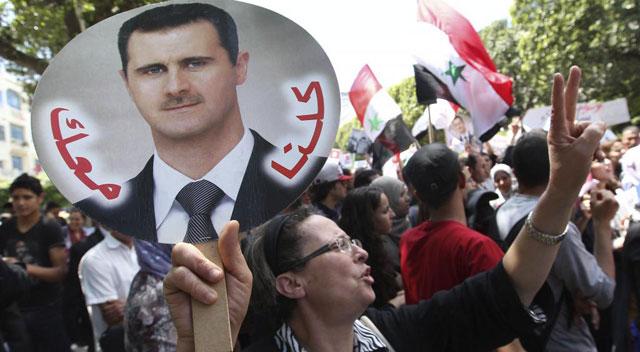 Manifestación a favor de Al Asad y en contra de Israel.| Efe