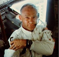Aldrin, en la nave Apolo 11. | NASA