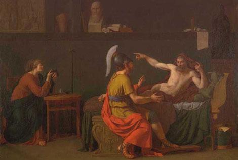 Anaxágoras y Péricles, pintados por Augustin-Louis Belle. | EM