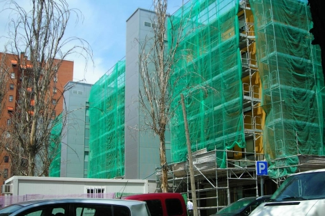 Restauración de un edificio en Ciudad de los Ángles, Villaverde, Madrid. | JFLV