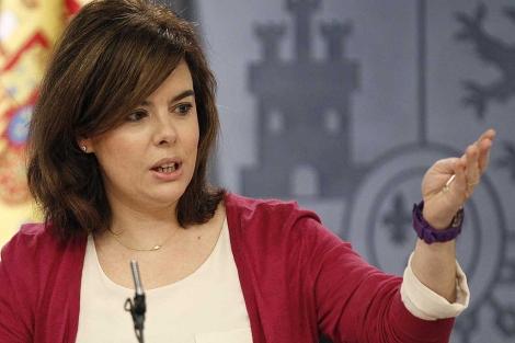 La vicepresidenta del Gobierno, Soraya Sáenz de Santamaría. | Foto: Efe / Ballesteros.