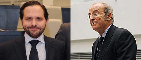 Diego Sanjuanbenito (izda.) y Pedro Corral, los nuevos concejales del Ayuntamiento.