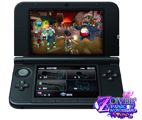 'Zombie Panic para 3DS', de Akaoni Studio.