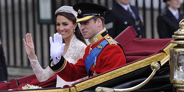 Guillermo y Catalina, en su boda. | Gtres
