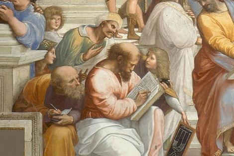 Un fragmento de 'La Escuela de Atenas' de Rafael de Sanzio.