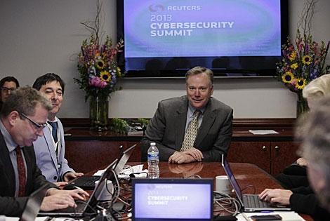 Richard McFeely en la reunión de 'ciberseguridad' de Reuters