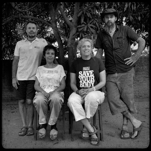 De izquierda a derecha: Jorge Muñoz, Martina Broz, Reina Llado y Pep Bonet. | Pep Bonet/NOOR