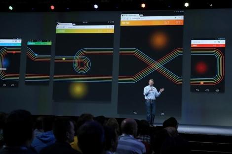 El vicepresidente de Chrome, Linus Upson, habla sobre las novedades de Google. | Foto: Afp