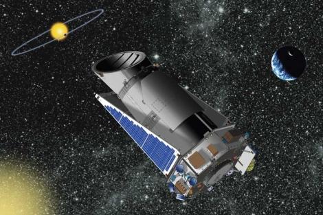 Recreación artísitica del telescopio espacial Kepler. | NASA