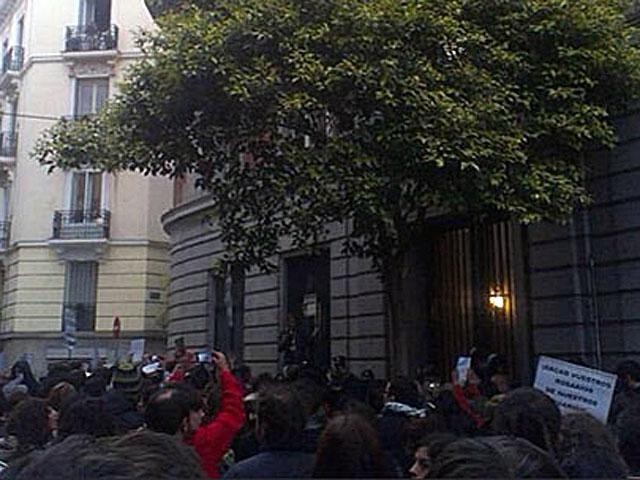 Protesta en el domicilio del ministro de Justicia. | Asamblea Lavapiés