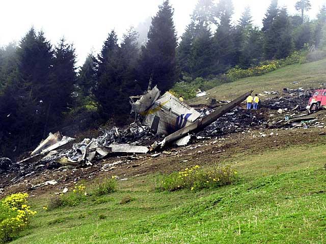 Restos del Yak-42 en el monte Pilav de Turquía. | Foto: Reuters /Anatolian.