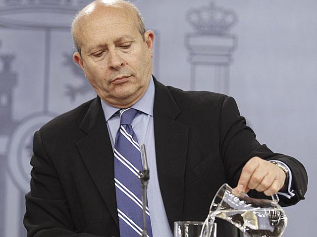 El ministro de Educación, en la rueda de prensa tras el Consejo de Ministros. | Alberto Cuéllar