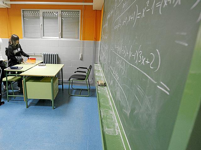 Aula en el instituto Antonio Machado de Alcalá de Henares. | Alberto Di Lolli
