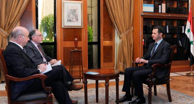 Assad, durante la entrevista.   Efe