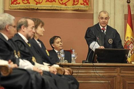 Toma de posesión del presidente de la Audiencia de Barcelona. | D. Umbert
