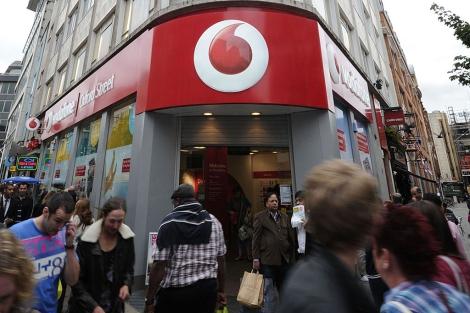 Fachada de una tienda de Vodafone en Londres