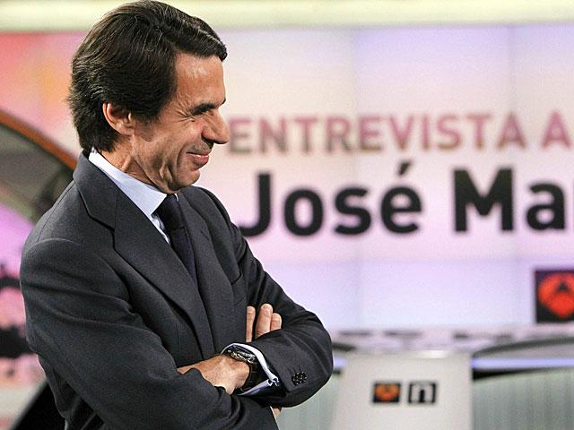 José María Aznar, momentos antes de la entrevista. | Kiko Huesca / Efe