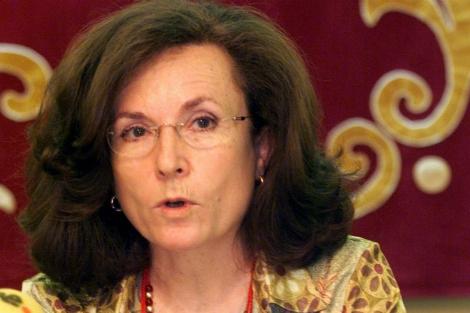 La filóloga Aurora Egido, durante un acto en 2002.   Efe