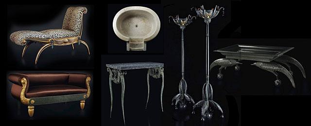Los siete lotes subastados por la Casa de Alba, diseño de Rateau. | Christie's