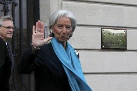 Christine Lagarde, tras comparecer en un tribunal de París.   Reuters
