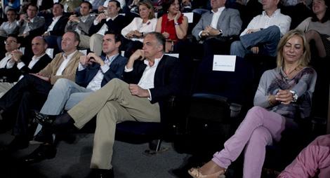 Ubicación de los asientos durante la intervención de Rita Barberá. El asiento vacío corresponde a la alcaldesa de Valencia. | Foto: Vicent Bosch