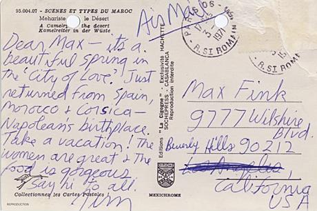 La última postal de Morrison desde Marruecos.