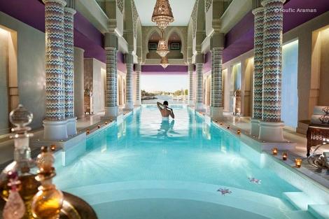 Interior de un spa en Egipto.