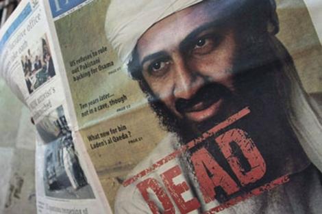 La noticia de la muerte de Bin Laden publicada en un periódico Pakistaní. | Efe