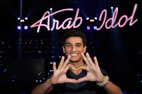 Mohammed Assaf, participante del programa 'Aran idol'.   Afp