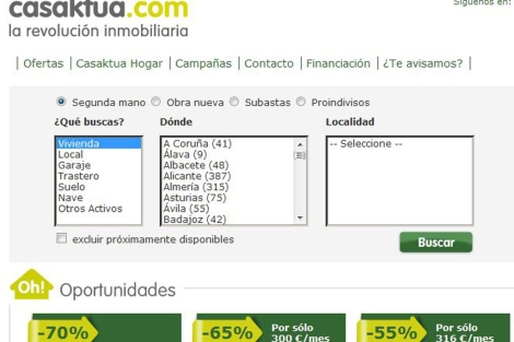 Buscador de casas de Casaktua, compañía propiedad de un fondo americano. | ELMUNDO.es