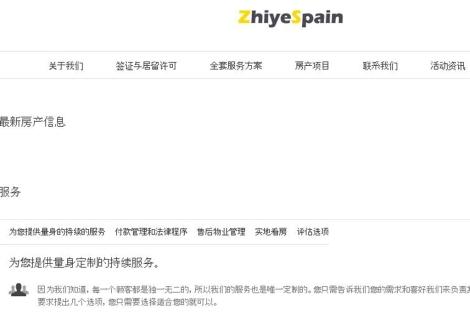 Portal inmobiliario en chino de la empresa española ZhiyeSpain. | ELMUNDO.es