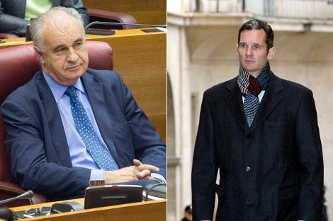 El ex conseller Rafael Blasco e Iñaki Urdangarin. | B. Pajares y Efe