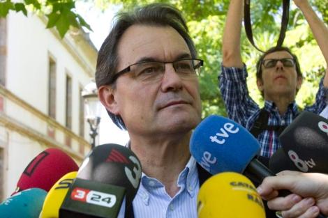 El presidente de Generalitat, Artur Mas, en la Tamborinada. | Efe