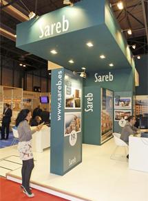 El 'stand' de la Sareb en el Sima, en su puesta de largo comercial. | A. Cuéllar