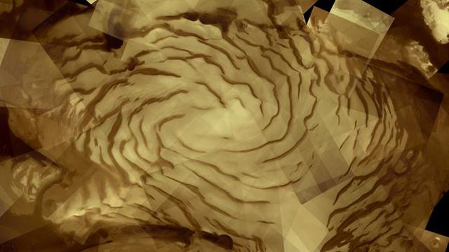 Casquete de hielo sobre el polo norte de Marte. | ESA
