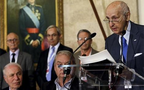 El presidente de la fundación de los Premios Rey Jaime I, Santiago Grisolía. | Efe