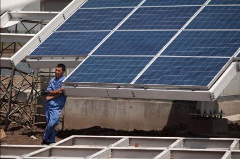 Panel solar chino. | Afp