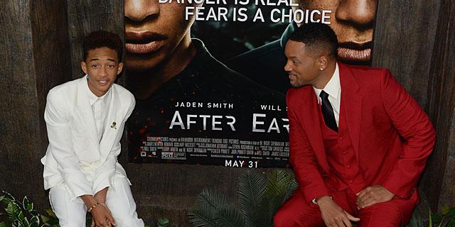 Will Smith y su hijo, en la premiere del filme en Nueva York. | AFP