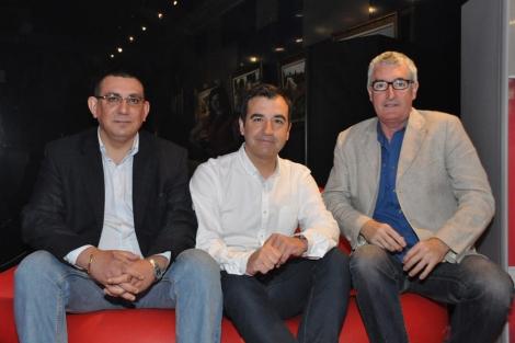 Gonzalo Eulogio, Vicente Seva y Luis Ivars en la rueda de prensa. | E.M.