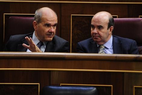 Manuel Chaves y Gaspar Zarrías en el Congreso. | Bernardo Díaz